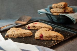 Cranberry and Teff Scones made with Maskal Teff™ flour