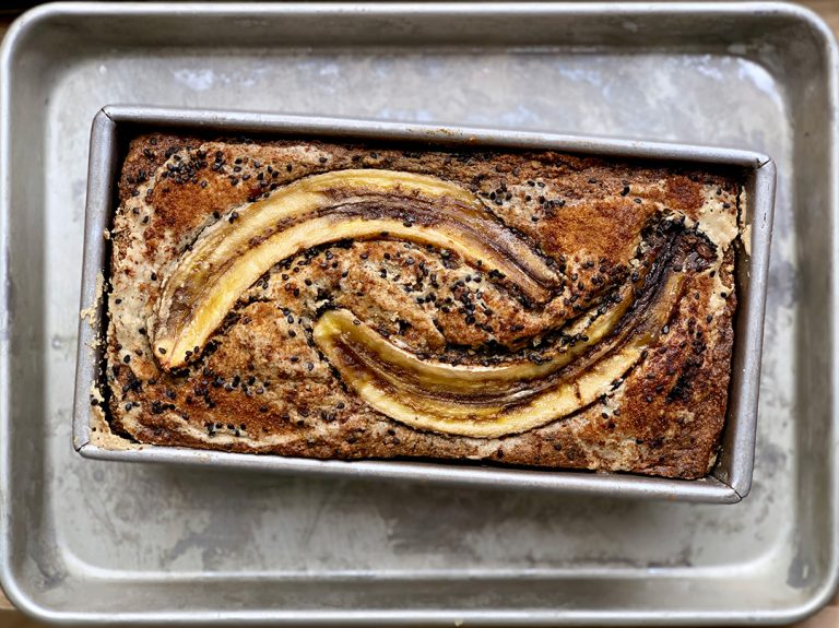 Black Sesame and Teff Banana Bread