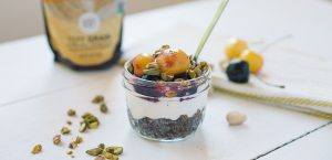 Broiled Cherry Teff Parfait