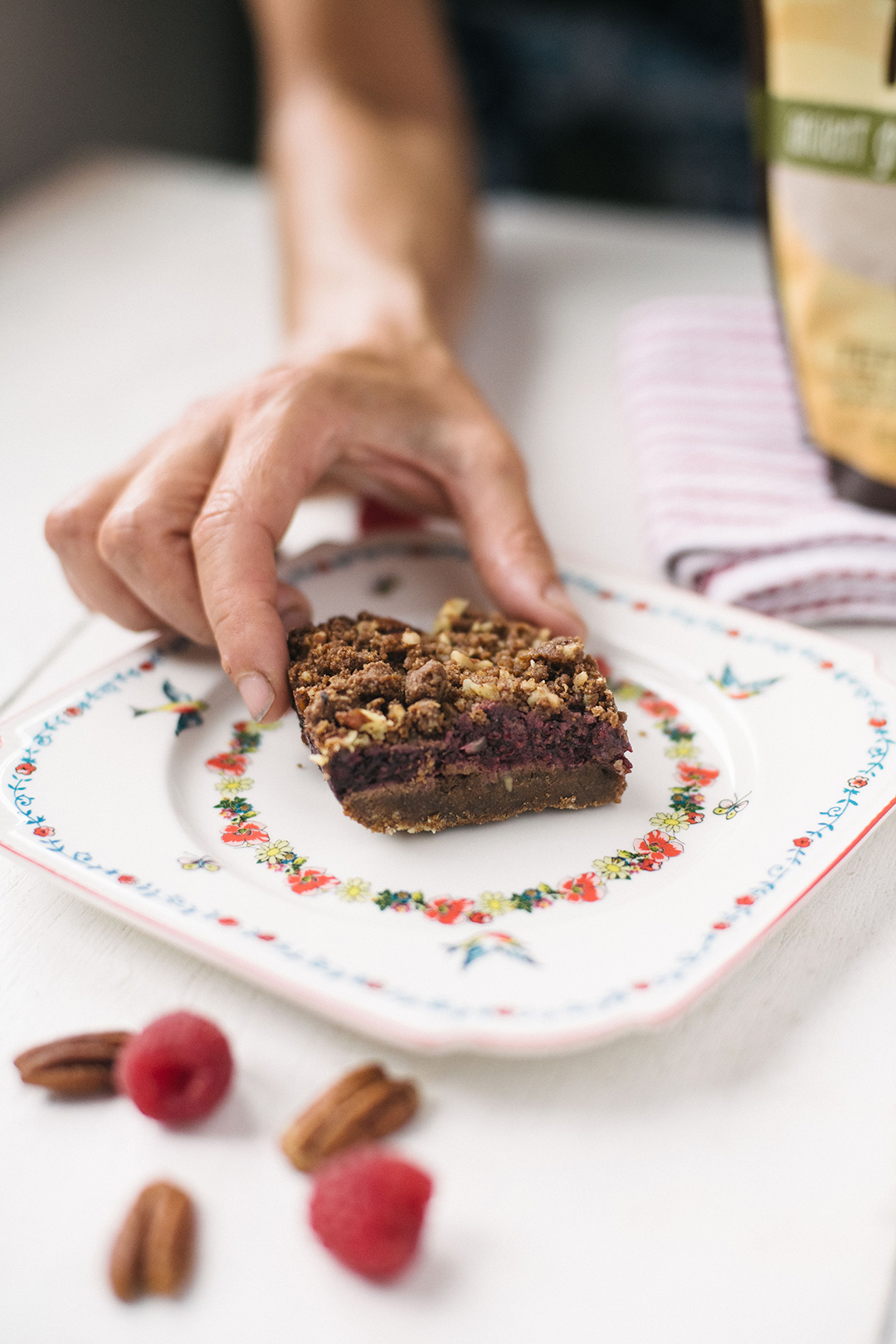 Raspberry Teff Bars Recipe